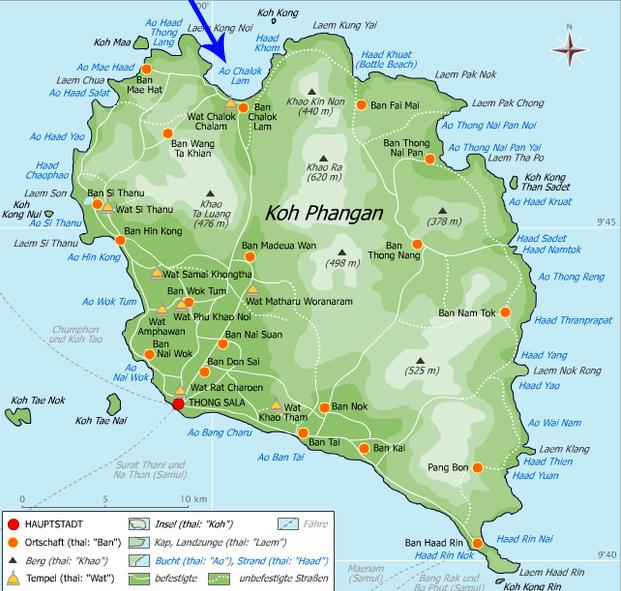 Chaloklum Map.