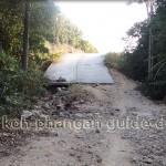 Schlechte Straße auf Koh Phangan