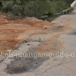 Schlechte Straße Koh Phangan