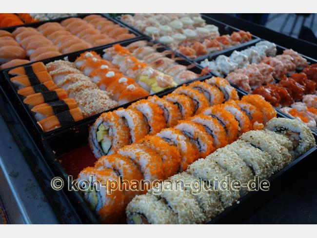 Sushi-Stand auf dem Food Market
