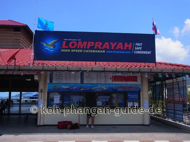 Lomprayah Ticketschalter auf Koh Samui