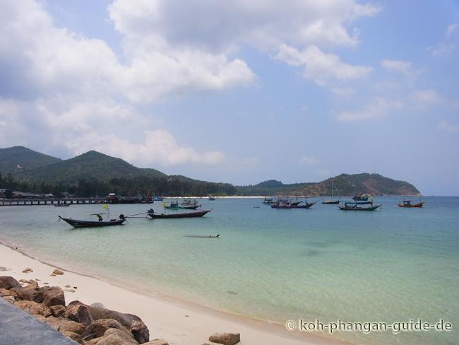 Chaloklum Strand linke Seite.