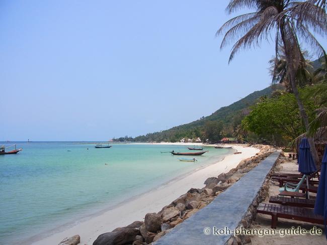 Chaloklum Strand rechte Seite.