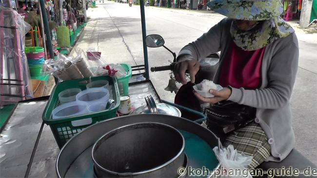 Eisverkäufer auf Koh Phangan.