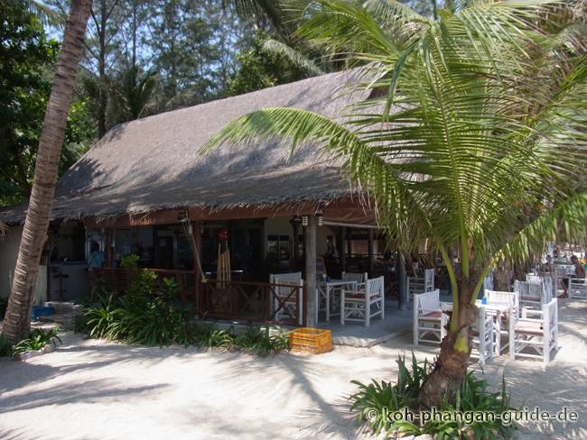Das Restaurant der Bottle Beach 2 Bungalows.