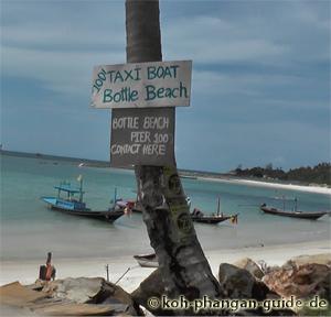 Taxi Boat zum Bottle Beach.