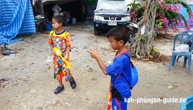 Thai-Kids an Sonkran