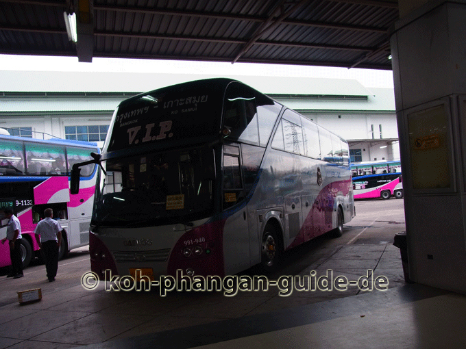 VIP Bus in Bangkok.
