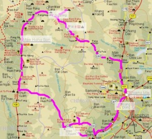 Karte Mae Hong Son Loop